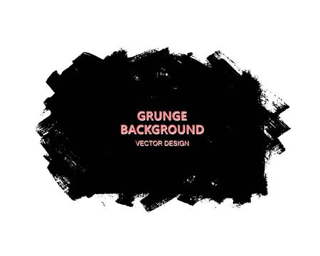 grunge: Black paint design element, place for text information, quote. Dirty grunge background.