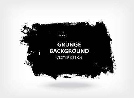 黒のペイント デザイン要素、引用テキスト情報のための場所します。汚れたグランジ背景。