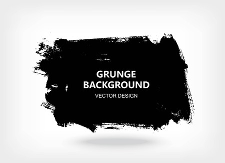 Black paint design element, place for text information, quote. Dirty grunge background.