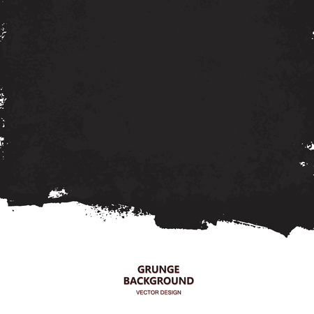 grunge banner: Black paint design element, place for text information, quote. Dirty grunge background.