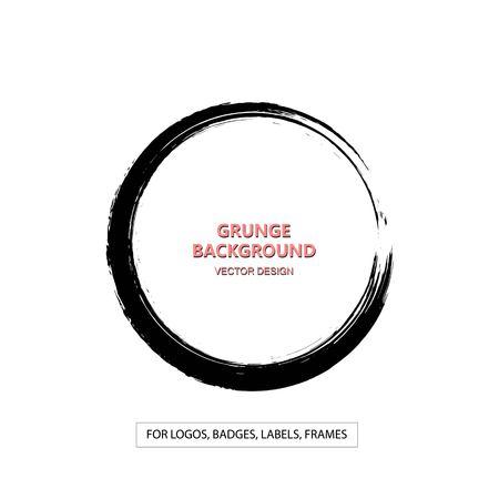 curve creative: Hand drawn grunge circle shape.