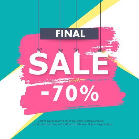 Seasonal sale banner, background. Stock Vector - 76716830