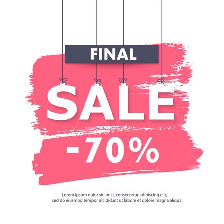 web store: Seasonal sale banner. Sale and discounts. Web banner or poster for e-commerce, on-line shop, store. Illustration