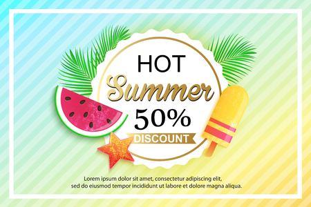 Summer sale background design for banner