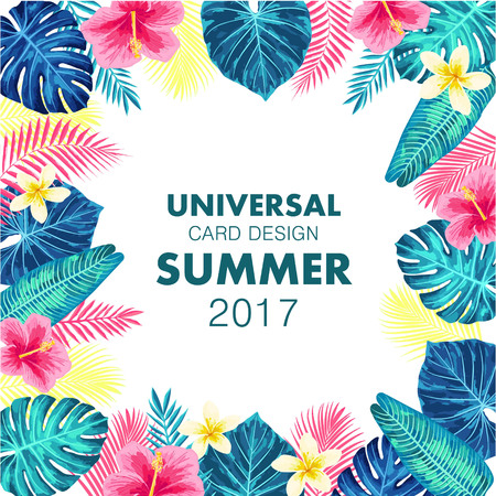 Summer exotic and tropic background design.