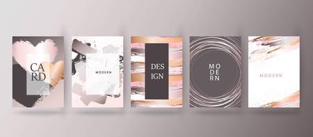 Gold, pink brochure, flyer, invitation, card Vektorové ilustrace