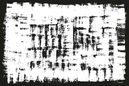 Black paint, ink, grunge, dirty box. Hand painted frame, background. Place for text.