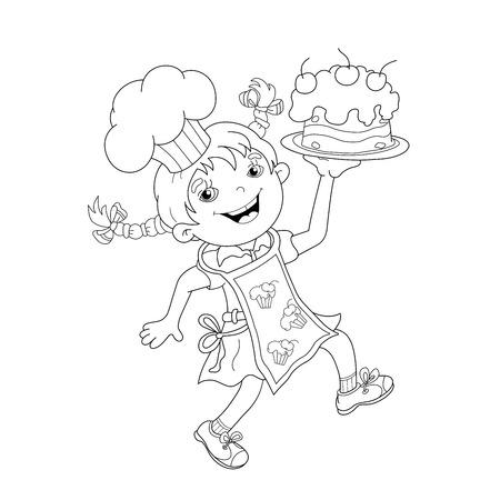 cartoon girl template