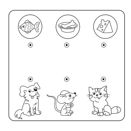 Ilustración Vectorial De Dibujos Animados Del Laberinto De La ...