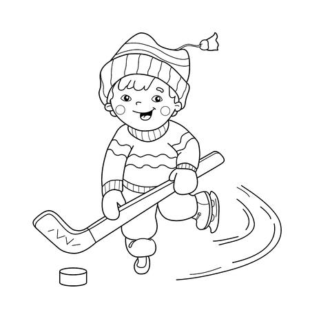 Malvorlagen Umriss Mädchen Skaten. Wintersport. Malbuch Für Kinder ...
