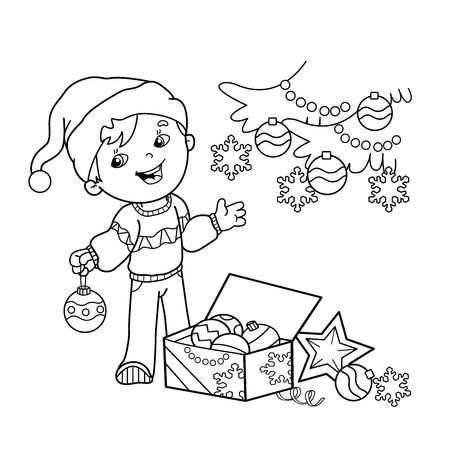 Página Para Colorear Esquema De Dibujos Animados Chica Decorar El ...