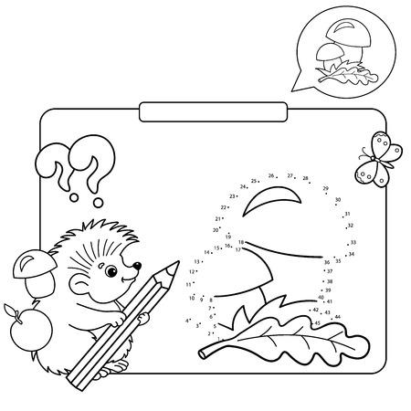 Pädagogische Spiele Für Kinder: Zahlen Spiel. Pilze. Färbung Seite ...