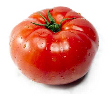 Tomato in water splashes Banco de Imagens