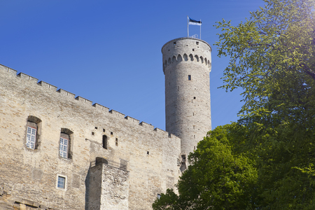 Toompea Castle on Toompea hill (Tall Hermann tower). Tallinn, Estonia