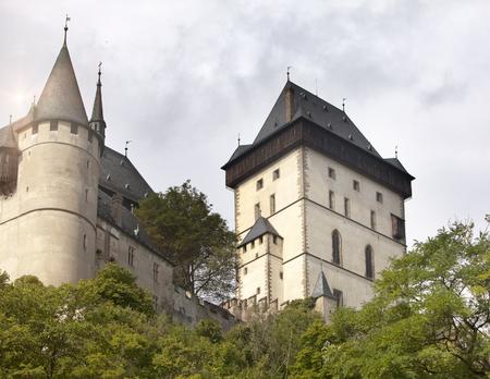 Karlstejn medieval Castle. Bohemia, Czech Republic