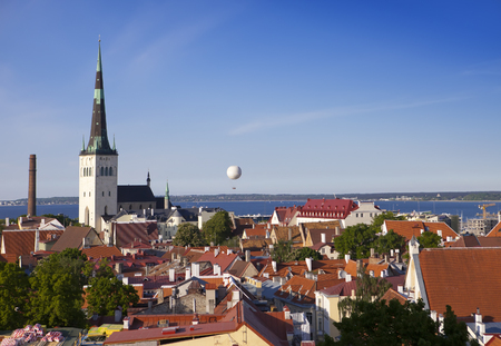 View of the old city  Tallinn from the observation deck