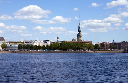 view on Riga across the Daugava river