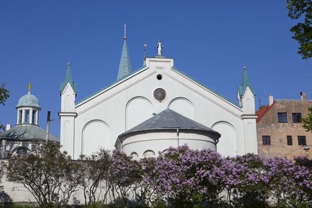 Our Lady Of Sorrows Church, Ancient Catholic Church next to Riga Castle (Old Town, Riga, Latvia)
