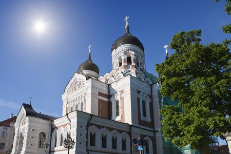 Alexander Nevsky Cathedral - Orthodox church in Tallinn, Estonia.