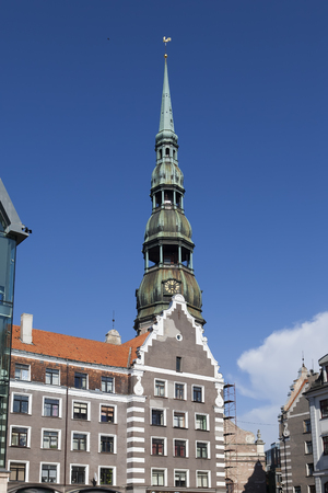 central Riga square , st peter's cathedral, Latvia