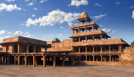 Ancient abandoned city of Fatehpur Sikri, XVI century. Agra, Uttar Pradesh, India