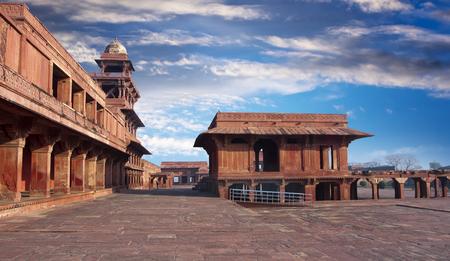 Ancient abandoned city of Fatehpur Sikri, XVI century. Agra, Uttar Pradesh, India.