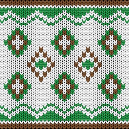 cross stitch: Ilustraci�n vectorial de gente sin fisuras ornamento ornamento �tnico