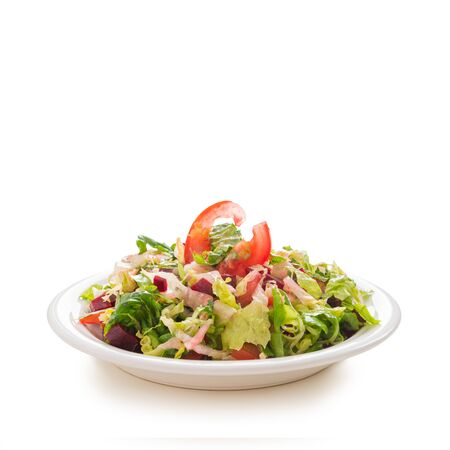 Romaine lettuce salad with tomato and beetroot Stockfoto