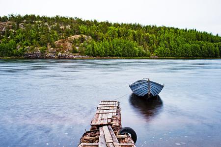 oar: The oar boat on the river