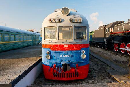 d1: KALININGRAD, RUSSIA - JANUARY 06, 2016: The museum of the railroad in Kaliningrad