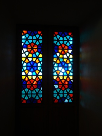mistery: stained glass Stock Photo