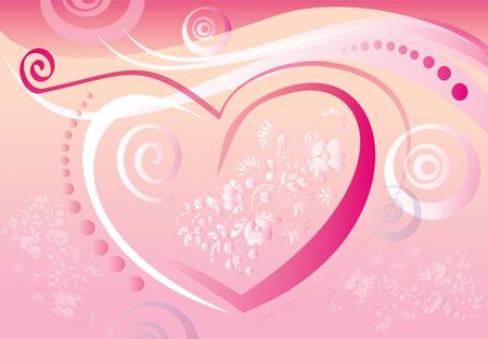Tender background with a heart Stock Photo - 4119246