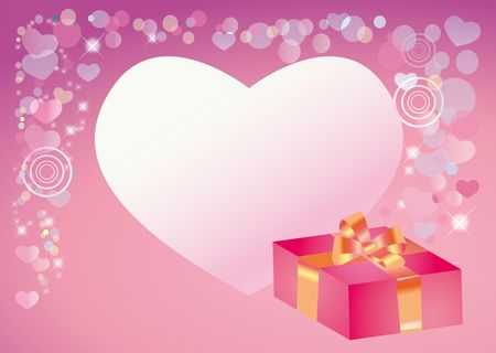 Background for congratulation to the day of sainted Valentine Stock Photo - 4179192