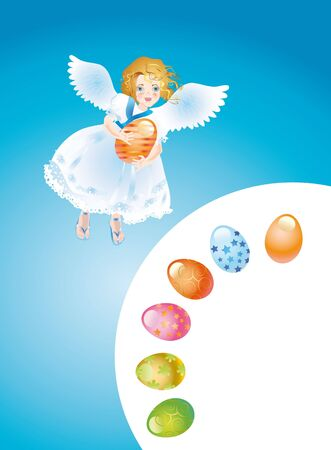 Angel is brought by an easter egg photo