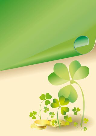background to the holiday st patrick's day with the leaves of clover Stock Photo - 8208205