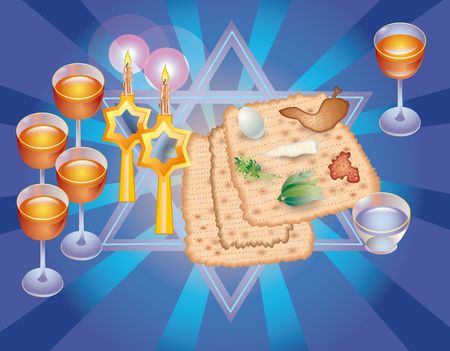 Sacral meal in the holiday of Pesakh ( Passover) Stock Photo - 8206891