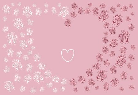 background with butterflies to the romantic event photo