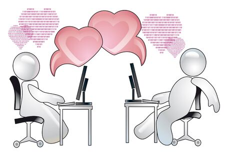 conception of romantic relations over the internet photo