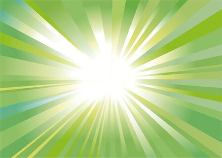 abstract background as a refulgency of rays in the green key Stock Photo - 8595212