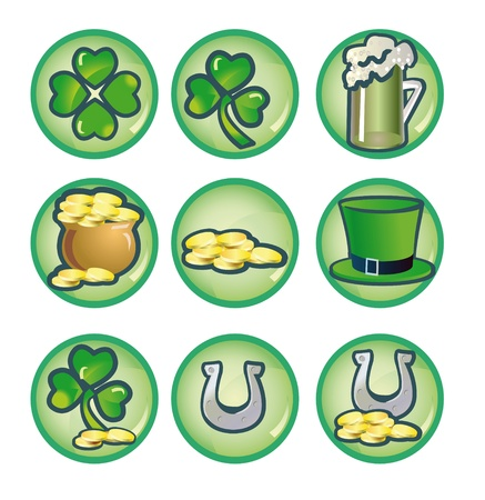 set icons to valentinesday St. Patrick's Day Stock Photo - 9507550