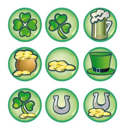 traditionally irish: set icons to valentinesday St. Patricks Day
