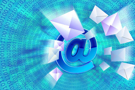 Letters go to the e-mail Stock Photo - 9507553