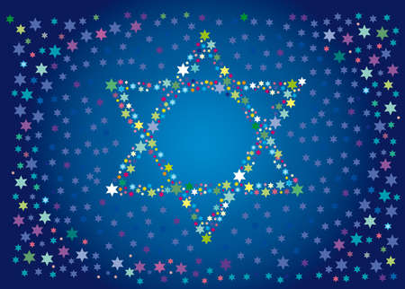 testaments: Abstract background from the stars of David