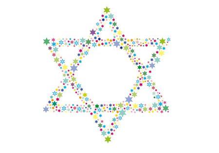 etoile juive: Contexte abstrait des �toiles de David Banque d'images