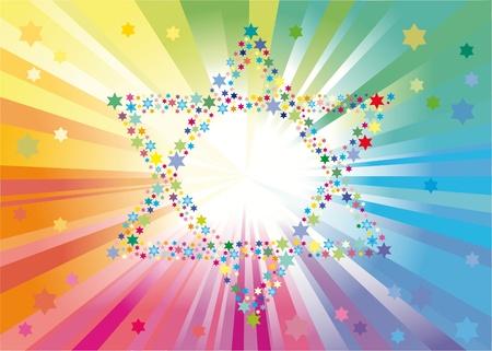 estrella de david: Fondo abstracta de las estrellas de David