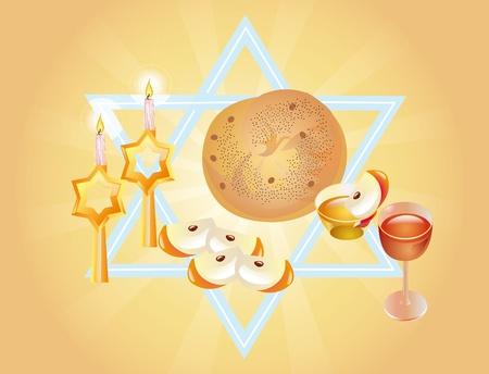 sacral: Sacrale maaltijd in de vakantie van Rosh Hasjana-