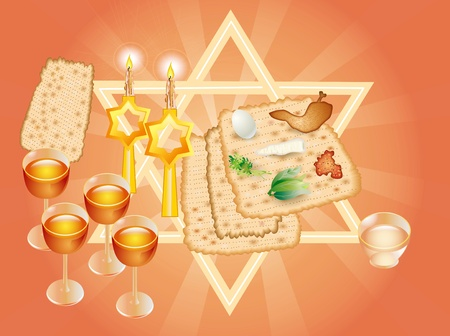 Sacral meal in the holiday of Pesakh ( Passover) Stock Photo - 9591465