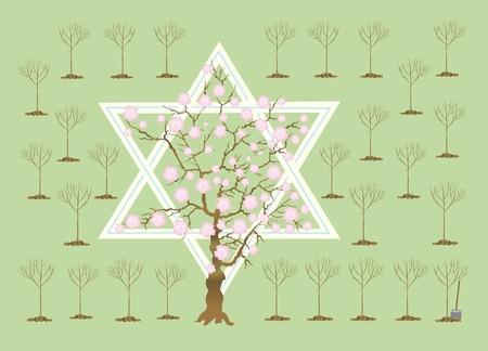 In Israel in Tu bi-shvat ( Banco de Imagens