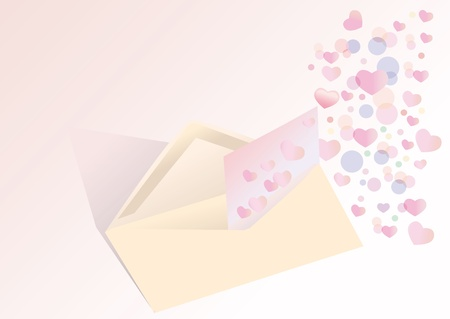 Exposed envelope with a romantic, love letter Stock Photo - 10577131
