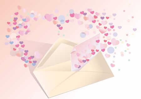 exposed: Exposed envelope with a love